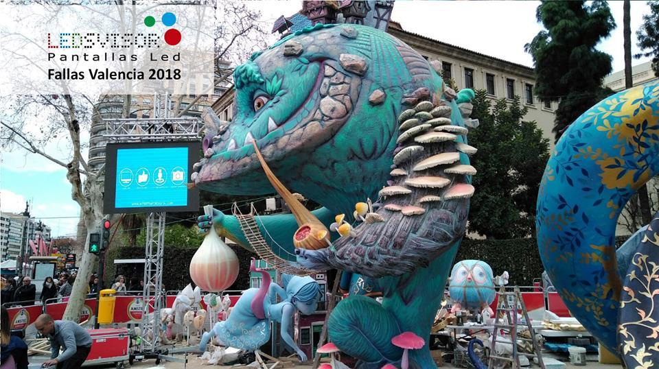 Ledsvisor en Fallas Valencia 2018