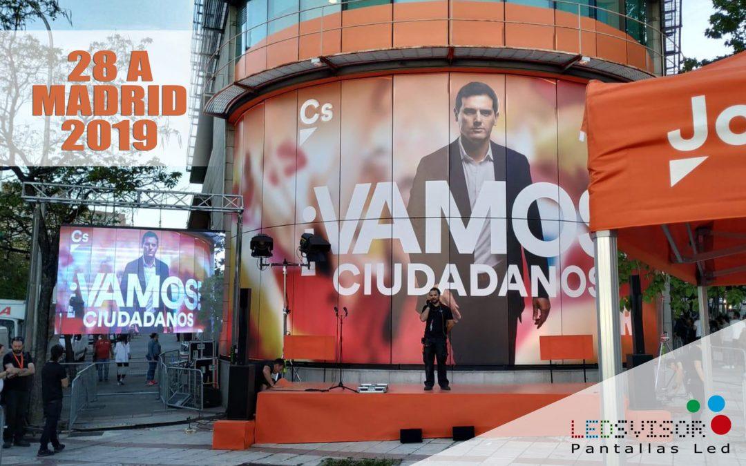 Campaña Política 28A Ciudadanos – Madrid 2019