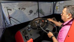 Simulador de camión Asamblea regional federacion organizaciones empresariales transporte