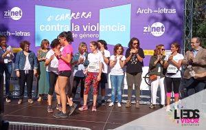 6 carrera contra la violencia de genero ledsvisor pantallas leds
