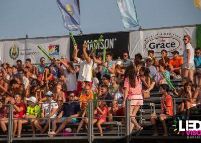 Ledsvisor con sus Pantallas Leds y cámaras de Alquiler, retransmitiendo las Finales 2019 del Campeonato de España de Voley Playa en Isla Canela