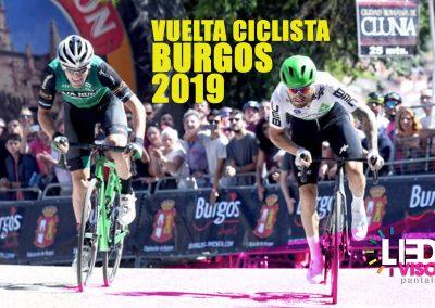 Vuelta ciclista a Burgos 2019 - Pantallas Leds Gigantes con Camión Móvil de Ledsvisor