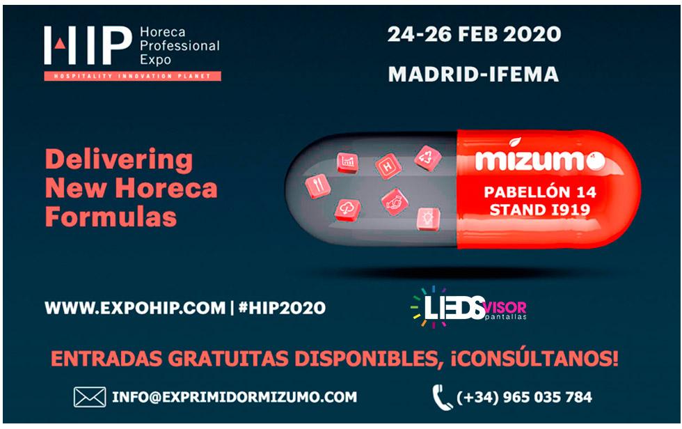 HIP Feria Ifema inovacion ledsvisor pantallas leds