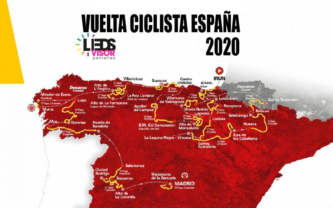 Vuelta ciclista a españa - alquiler pantallas leds - Ledsvisor
