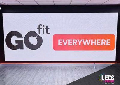 Instalación de Pantalla Leds personalizada en Go fit
