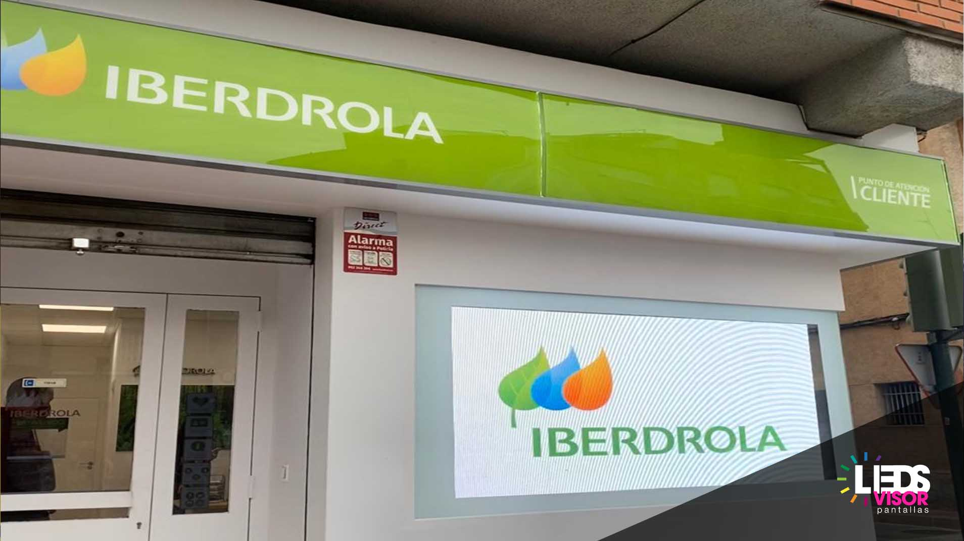 instalacion venta pantalla leds iberdrola 4 - ledsvisor