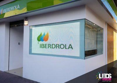 Instalación de Pantalla Leds de exterior en Iberdrola